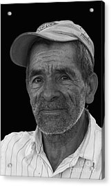 Face Of A Hardworking Man Acrylic Print by Heiko Koehrer-Wagner