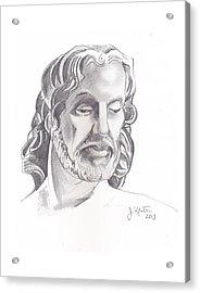 Face Of Jesus Acrylic Print by John Keaton