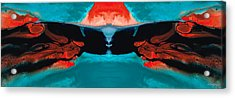 Face To Face - Abstract Art By Sharon Cummings Acrylic Print by Sharon Cummings