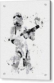 Faceless Enforcer Acrylic Print by Rebecca Jenkins