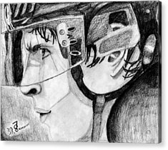 Faceoff Focus Acrylic Print by Kayleigh Semeniuk