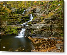 Factory Falls Acrylic Print by Mark Robert Rogers
