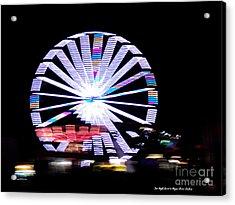 Fair Night Ferris Acrylic Print by Megan Dirsa-DuBois