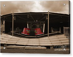 Fairground Waltzer In Sepia Acrylic Print by Terri Waters