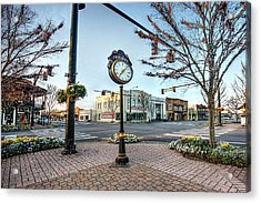 Fairhope Clock And 4 Corners Acrylic Print by Michael Thomas