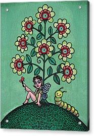 Fairy Series Katrina Acrylic Print by Victoria De Almeida