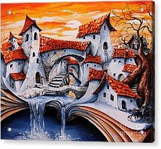 Fairy Tale City - Magic Stream Acrylic Print by Emerico Imre Toth