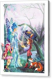 Fairy Wand Acrylic Print by Zorina Baldescu