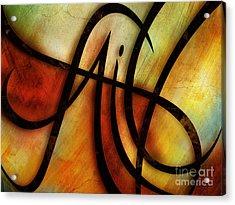 Faith Abstract Acrylic Print by Shevon Johnson