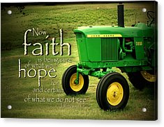 Faith And Hope Acrylic Print by Linda Fowler