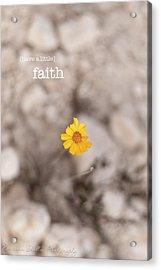 Faith Acrylic Print by Barbara Shallue