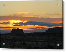Fajada Butte At Sunrise Acrylic Print by Feva  Fotos