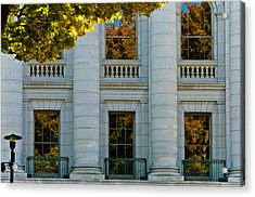 Fall At The Capitol Acrylic Print by Christi Kraft