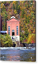 Fall At Tugalo Acrylic Print by Susan Leggett