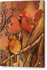 Fall Companions Acrylic Print by Cheryl Borchert