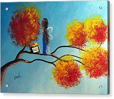 Fall Fairy By Shawna Erback Acrylic Print by Shawna Erback