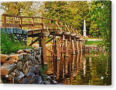 Fall Foliage Over The North Bridge Acrylic Print by Jeff Folger