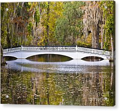Fall Footbridge Acrylic Print by Al Powell Photography USA
