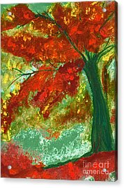 Fall Impression By Jrr Acrylic Print by First Star Art