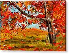 Fall Impressions Acrylic Print by Lourry Legarde
