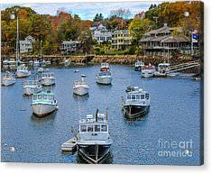 Fall In Maine Acrylic Print by Joe Faragalli