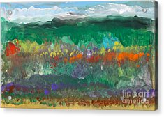 Fall Landscape Abstract Acrylic Print by Anne Cameron Cutri