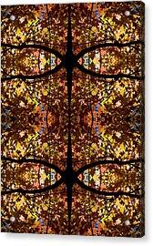 Fall Leaf Kaleidoscope Acrylic Print by Steven Ralser