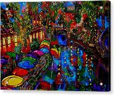 Fall On The Riverwalk Acrylic Print by Patti Schermerhorn