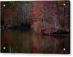 Fall Reflections Acrylic Print by Linda Unger