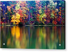 Fall Reflections Acrylic Print by Tony  Colvin