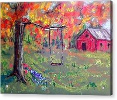 Fall Scene 14 Acrylic Print by Pete Maier