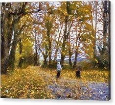 Fall Stroll Acrylic Print by Barry Jones