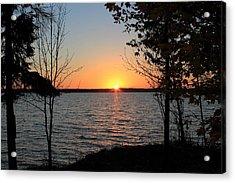 Fall Sunset At Long Lake Acrylic Print by Rhonda Humphreys