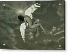 Fallen Angel Acrylic Print by Ramon Martinez