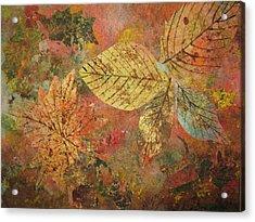 Fallen Leaves II Acrylic Print by Ellen Levinson