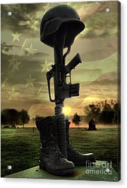 Fallen Soldiers Memorial Acrylic Print by September  Stone