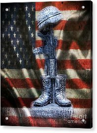 Fallen Soldiers Memorial Acrylic Print by Peggy  Franz