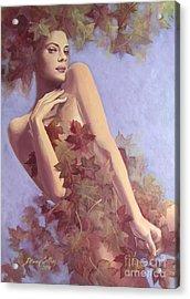 Fall...in Love... Acrylic Print by Dorina  Costras