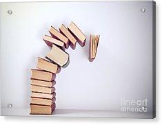 Falling Books Acrylic Print by Viktor Pravdica