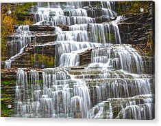 Falling Water Acrylic Print by Frozen in Time Fine Art Photography