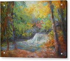 Fall's Fall Acrylic Print by Susan Bracken Gilday