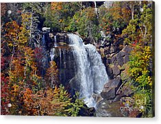 Falls In Fall Acrylic Print by Lydia Holly