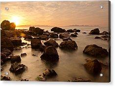False Bay Sunrise Acrylic Print by Aaron S Bedell