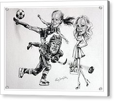 Family Caricature Acrylic Print by Hanne Lore Koehler