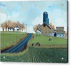 Family Dairy Acrylic Print by John Wyckoff