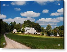 Family Farm Acrylic Print by Tom Mc Nemar