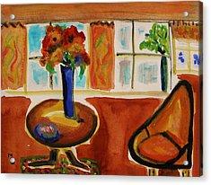 Family Room Corner Acrylic Print by Mary Carol Williams