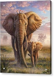 Family Stroll Acrylic Print by Phil Jaeger