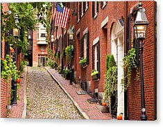 Famous Acorn Street In Beacon Hill Acrylic Print by Brian Jannsen