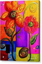 Fantasy Flowers Acrylic Print by Eloise Schneider